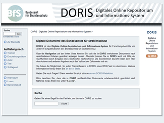Screenshot des Digitalen Online-Repositoriums und Informationssystems des BfS