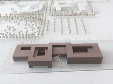 "A model of the winning design from the architectural office ""Glass Kramer Löbbert Architekten BDA"""