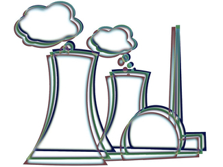 Sketch of a nuclear power plant