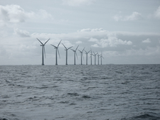 Offshore wind farm south of the Danish island of Samsö