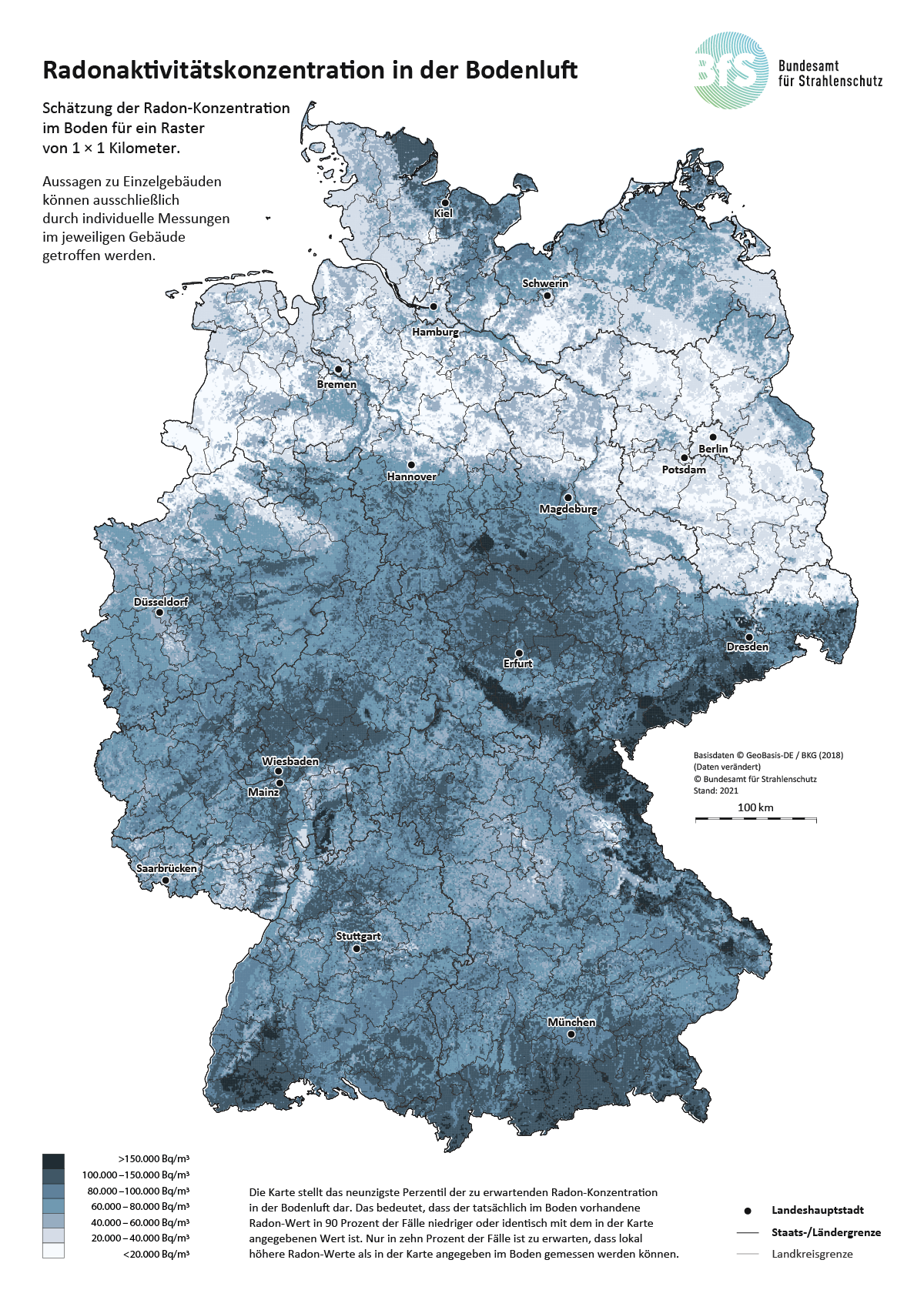 Kulturelle Landpartie Karte.Luchow Dannenberg Kaum Radon Belastung In Bodenluft